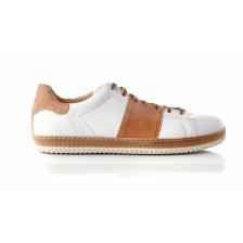 CHANIOTAKIS - Ανδρικά sneakers SPORT COLANDER λευκά-καφέ