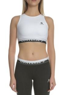 CONVERSE - Γυναικείο αθλητικό μπουστάκι CONVERSE High Neck λευκό