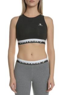 CONVERSE - Γυναικείο αθλητικό μπουστάκι CONVERSE High Neck μαύρο