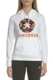 CONVERSE - Γυναικεία μπλούζα φούτερ In Bloom CONVERSE λευκή