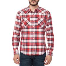 62439a993706 LEVI S - Ανδρικό μακρυμάνικο πουκάμισο Levi s BARSTOW WESTERN SUONA καρό  κόκκινο