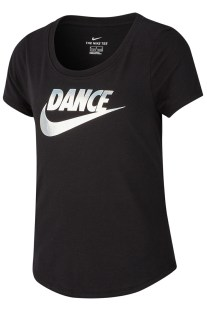 NIKE - Κοριτσίστικη κοντομάνικη μπλούζα Nike Dri-FIT μαύρη