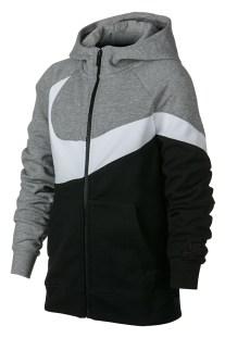 NIKE - Αγορίστικη ζακέτα με κουκούλα Nike Sportswear γκρι-μαύρη