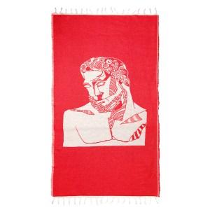 MOOD MAKERS - Πετσέτα MOOD MAKERS κόκκινη-μπεζ