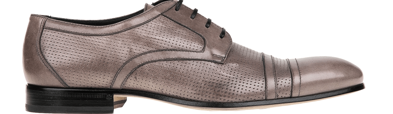 PERLAMODA - Ανδρικά δετά παπούτσια PERLAMODA γκρι