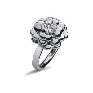 FOLLI FOLLIE - Γυναικείο δαχτυλίδι με λουλούδι FOLLI FOLLIE ασημί
