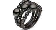 FOLLI FOLLIE - Σετ από τρία δαχτυλίδια FOLLI FOLLIE μαύρο