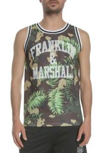 FRANKLIN & MARSHALL - Ανδρική μπλούζα UNI FRANKLIN & MARSHALL χακί μοτίβο