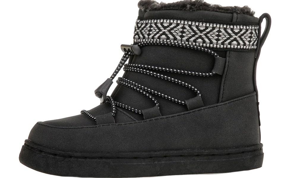 TOMS - Βρεφικές σουέντ μπότες TOMS μαύρες