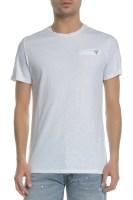 GUESS - Ανδρική κοντομάνικη μπλούζα GUESS λευκή