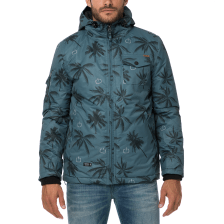 EMERSON - Ανδρικό μπουφάν EMERSON μπλε με print