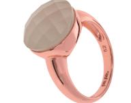 FOLLI FOLLIE - Γυναικείο δαχτυλίδι από ασήμι FOLLI FOLLIE ροζ-χρυσό