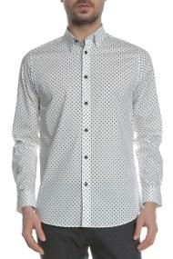 TED BAKER - Ανδρικό μακρυμάνικο πουκάμισο TED BAKER FYRTRUK PRINTED MINI FLOWER λευκό