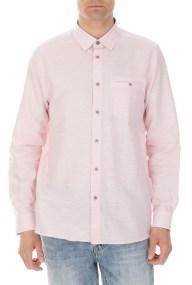 TED BAKER - Ανδρικό μακρυμάνικο πουκάμισο TED BAKER RABBBT ροζ
