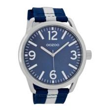 OOZOO - Ρολόι OOZOO μπλε-λευκό