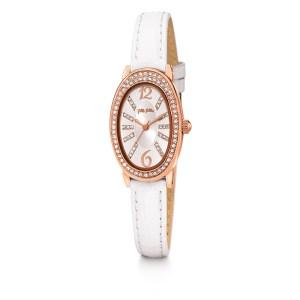 FOLLI FOLLIE - Γυναικείο ρολόι με δερμάτινο λουράκι FOLLI FOLLIE IVY λευκό