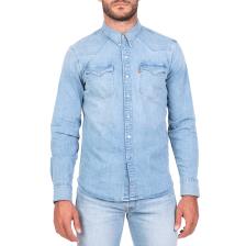 f69077f652ef LEVIS - Ανδρικό τζιν πουκάμισο LEVI S BARSTOW WESTERN BROOKLYN γαλάζιο