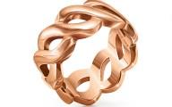 FOLLI FOLLIE - Γυναικείο φαρδύ δαχτυλίδι FOLLI FOLLIE ροζ-χρυσό