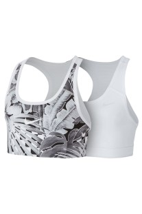 NIKE - Παιδικό αθλητικό μπουστάκι Nike Pro Classic λευκό-γκρι