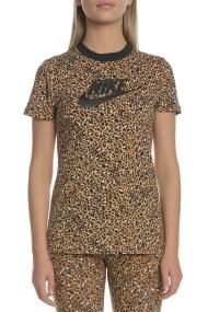 NIKE - Γυναικείο t-shirt NIKE NSW καφέ μαύρο