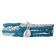 LINKS OF LONDON - Γυναικείο βραχιόλι Chm Wrap Blt μπλε