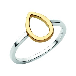 LINKS OF LONDON - Ασημένιο επιχρυσωμένο δαχτυλίδι Outlet Flare - μέγεθος 51