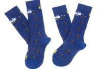 SALOMON - Σετ παιδικές κάλτσες SALOMON SKI TEAM JR 2-PACK μπλε