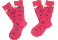 SALOMON - Σετ παιδικές κάλτσες SALOMON SKI TEAM JR 2-PACK ροζ