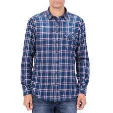 HAMPTONS - Ανδρικό μακρυμάνικο καρό πουκάμισο HAMPTONS μπλε-κόκκινο