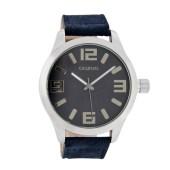 OOZOO - Unisex δερμάτινο ρολόι OOZOO μπλε image