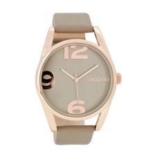OOZOO - Γυναικείο δερμάτινο ρολόι OOZOO μπεζ-καφέ