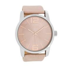 OOZOO - Γυναικείο δερμάτινο ρολόι OOZOO ροζ