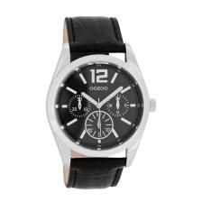 OOZOO - Γυναικείο δερμάτινο ρολόι OOZOO μαύρο