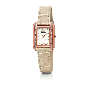 FOLLI FOLLIE - Γυναικείο ρολόι με δερμάτινο λουράκι FOLLI FOLLIE STYLE TALES λευκό