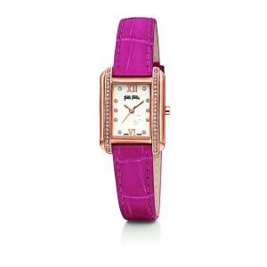 FOLLI FOLLIE - Γυναικείο ρολόι με δερμάτινο λουράκι FOLLI FOLLIE STYLE TALES ροζ