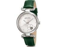 FOLLI FOLLIE - Γυναικείο ρολόι με δερμάτινο λουράκι FOLLI FOLLIE HEART 4 HEART πράσινο