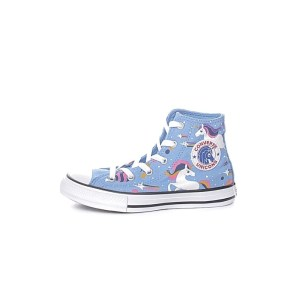 CONVERSE - Παιδικά μποτάκια sneakers CONVERSE CHUCK TAYLOR ALL STAR μπλε
