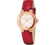 FOLLI FOLLIE - Γυναικείο δερμάτινο ρολόι FOLLI FOLLIE WATCHALICIOUS κόκκινο