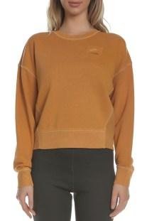 NIKE - Γυναικεία φούτερ μπλούζα Nike Sportswear French Terry καφέ