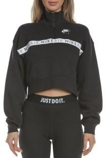 NIKE - Γυναικεία μακρυμάνικη μπλούζα με φερμουάρ Nike Air μαύρη