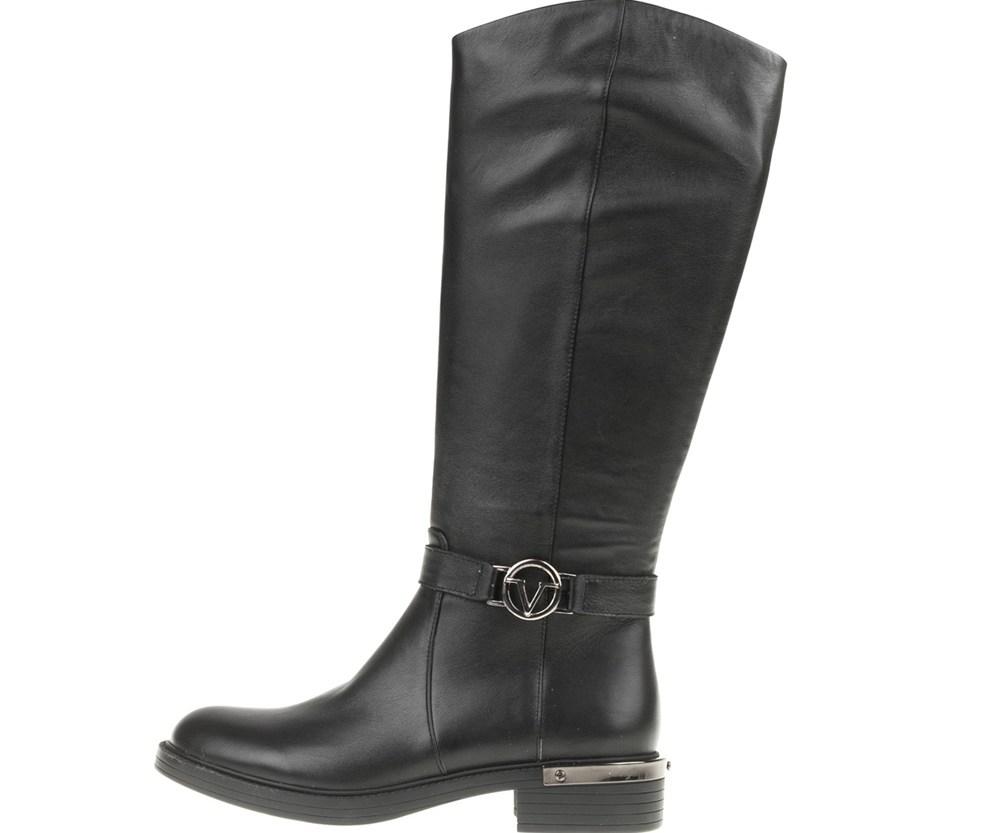 19V69 VERSACE 19.69 - Γυναικείες φλατ μπότες RIDING19V69 VERSACE 19.69 μαύρες