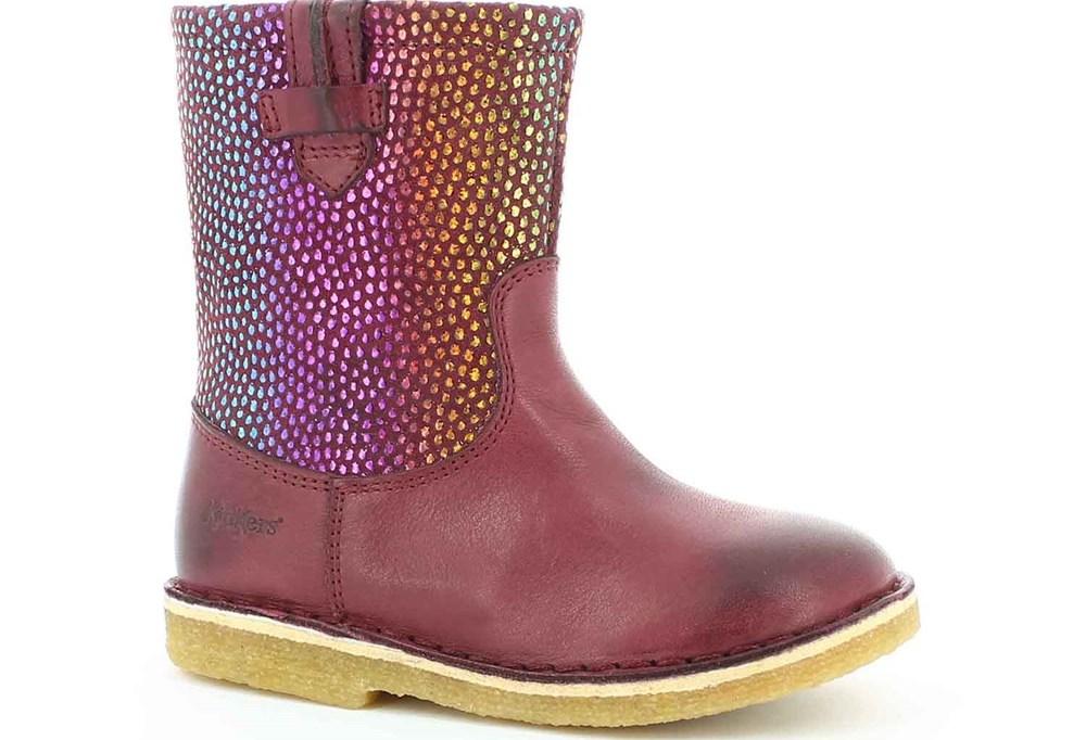 KICKERS - Παιδικές μπότες CRESSONA KICKERS μπορντό