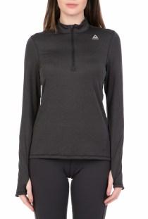 Reebok Fitness - Γυναικεία μακρυμάνικη μπλούζα Reebok 1/4 ZIP μαύρη