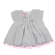 43cebd97c79 SAM 0-13 - Βρεφικό κοντομάνικο φόρεμα με πιέτες SAM 0-13 γκρι