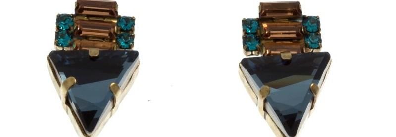 ARTWEAR DIMITRIADIS - Γυναικεία σκουλαρίκια ARTWEAR DIMITRIADIS με μπλε στρας