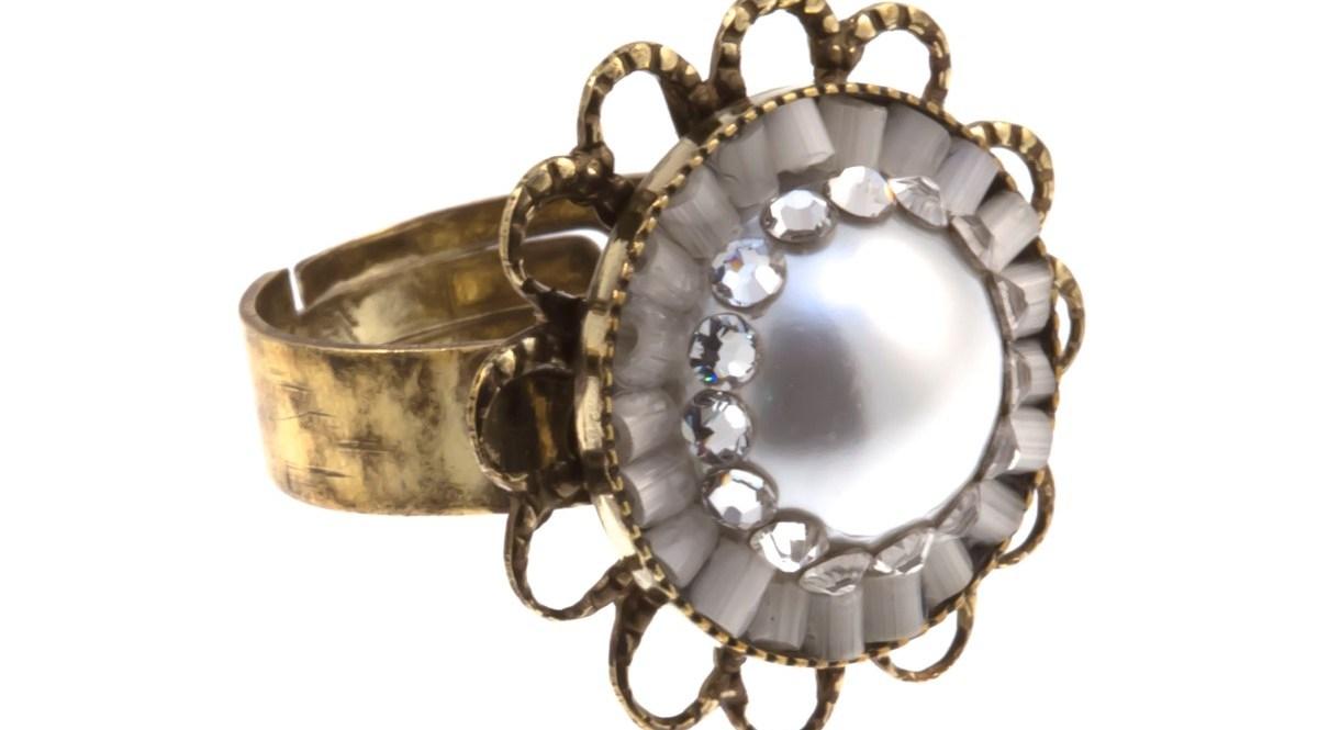 ARTWEAR DIMITRIADIS - Γυναικείο δαχτυλίδι μπρονζέ ARTWEAR DIMITRIADIS με στρας