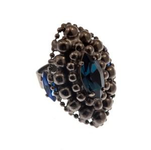 ARTWEAR DIMITRIADIS - Γυναικείο μεταλλικό δαχτυλίδι ARTWEAR DIMITRIADIS με στρας
