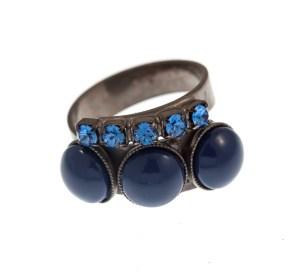 ARTWEAR DIMITRIADIS - Γυναικείο δαχτυλίδι ARTWEAR DIMITRIADIS με στρας και πέρλες
