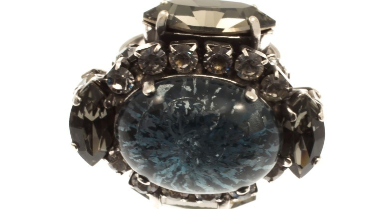ARTWEAR DIMITRIADIS - Γυναικείο δαχτυλίδι αντικέ ARTWEAR DIMITRIADIS με στρας και πέτρα
