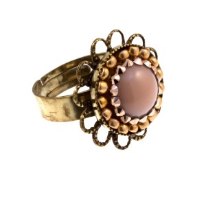 ARTWEAR DIMITRIADIS - Γυναικείο δαχτυλίδι ARTWEAR DIMITRIADIS μπρονζέ με στρας